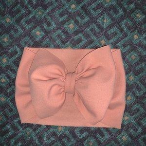 Aubrey Mila newborn bow headband wrap